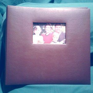 Very Nice Scrapbook Album, Brown Faux Leather
